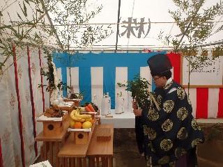 文京区M新築工事地鎮祭